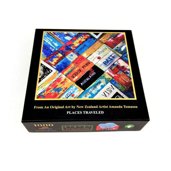 Box of Places Traveled Jigsaw Puzzle